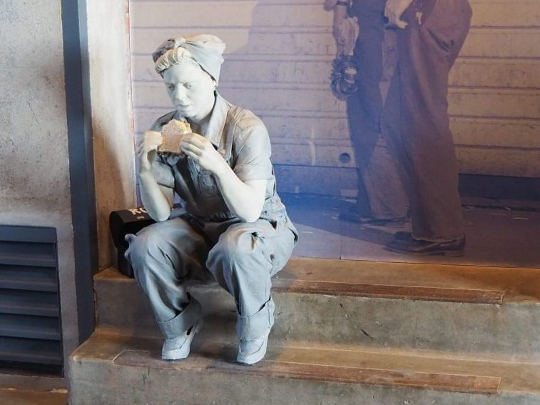 "An image of ""Rosie"" at the Rosie the Riveter Museum"