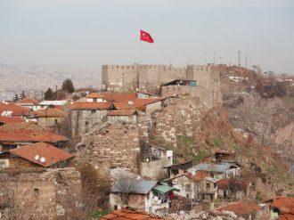 More battlements, as seen from Ankara Castle