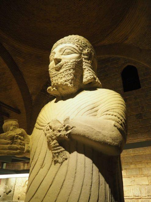 statue of King Mutallu, Assyrian, 1200-700 BCE, in the Museum of Anatolian Civilization in Ankara, Turkey.