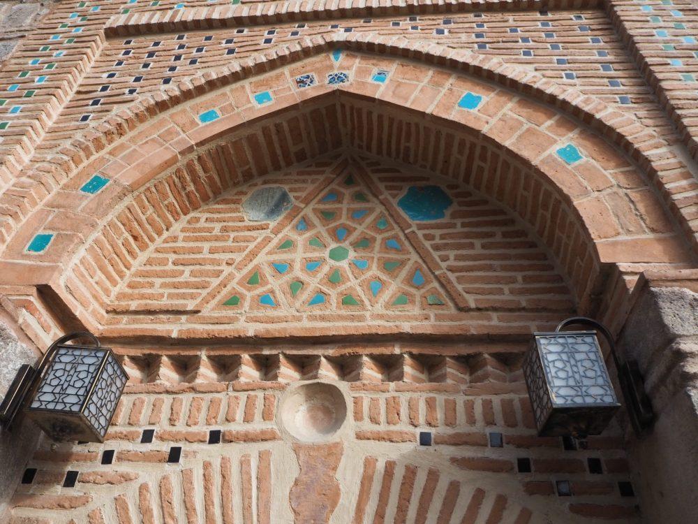 Ornate side doorway to Aslanhane Mosque in Ankara, Turkey. Things to See in Ankara, Turkey.