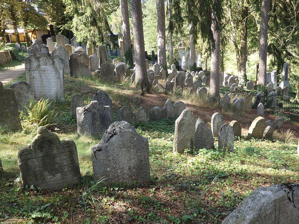 The Jewish cemetery in Trebic, part of a UNESCO site in Trebic, the Czech Republic