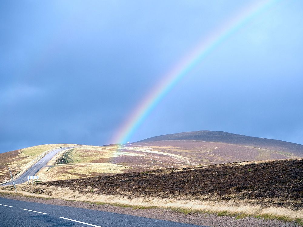 The weather was very changeable when we did our Highland Clearances heritage tour in October, so we saw quite a few rainbows!
