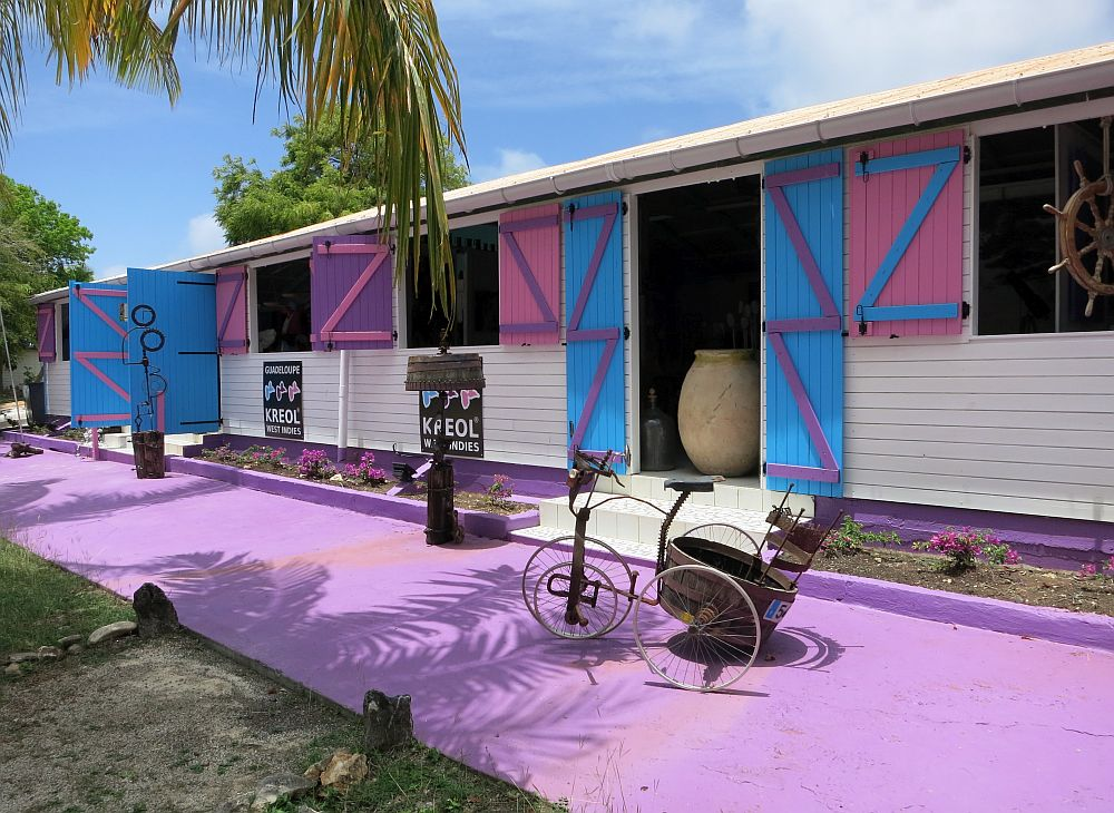 The brightly-painted home of Kreol West Indies.