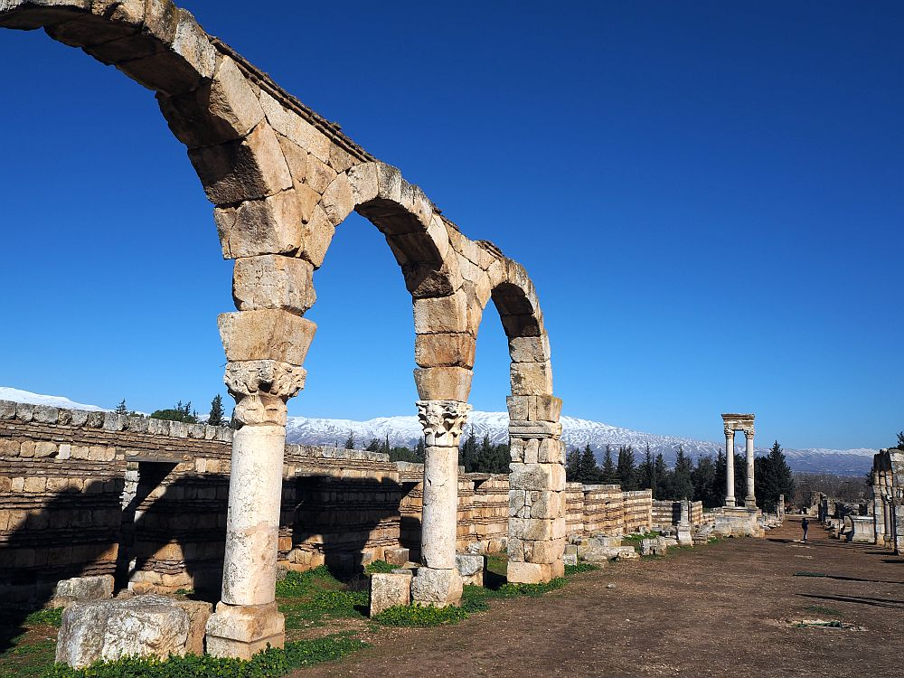 archways and columns at Anjar UNESCO site