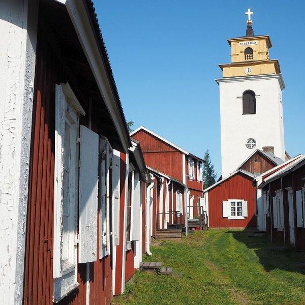 Gammelstad church town UNESCO site in Sweden