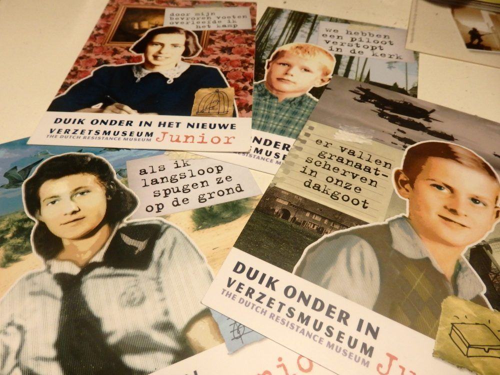 Each postcard has an image of a child.