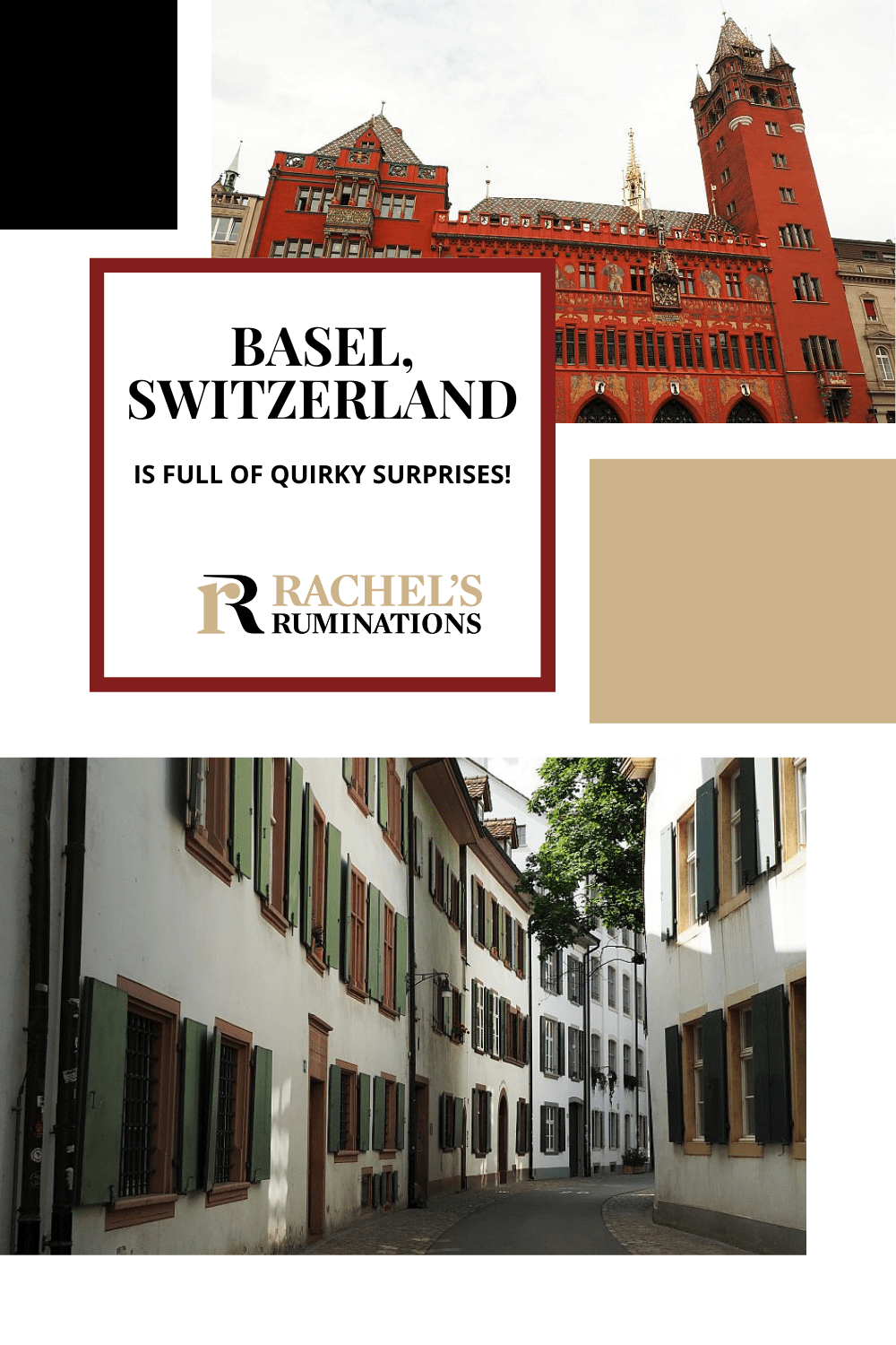 Basel, Switzerland has a charming old town with quirkiness lurking around every corner! Ferries with no motor, funny fountains, and more await you! via @rachelsruminations