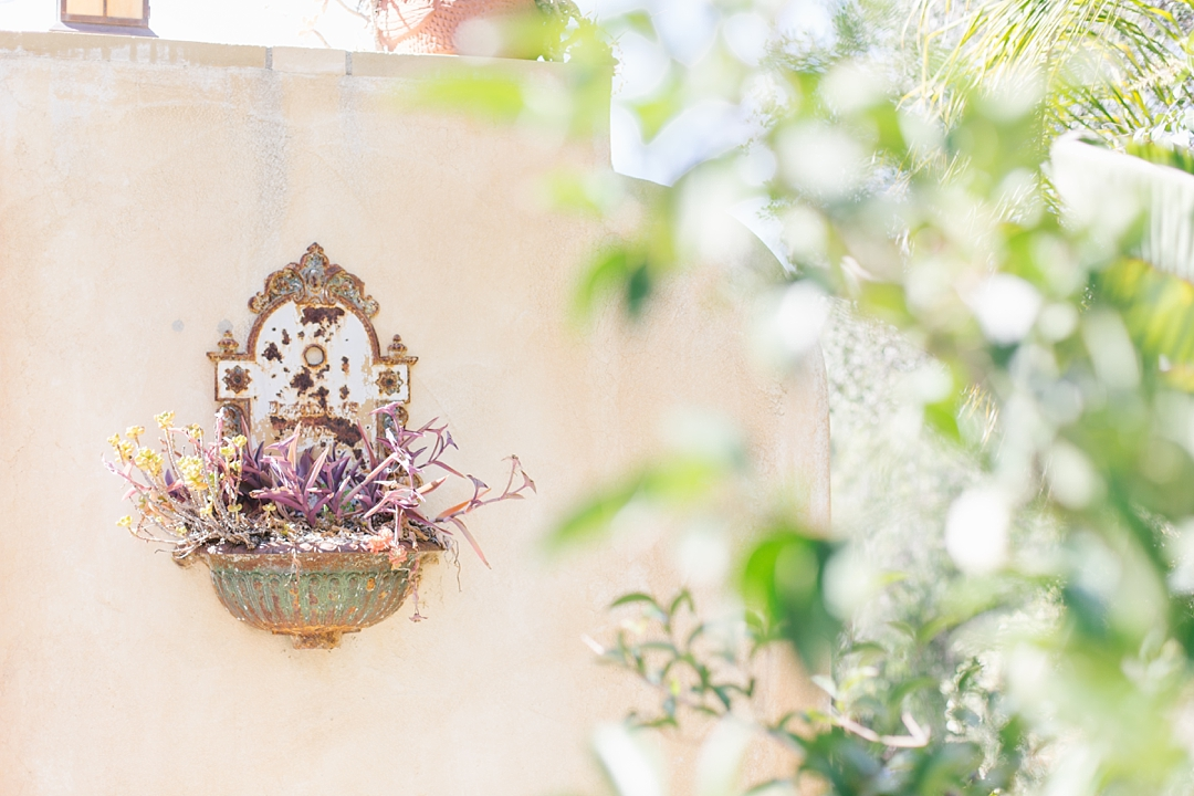tuscan-style details at mountain mermaid in topanga