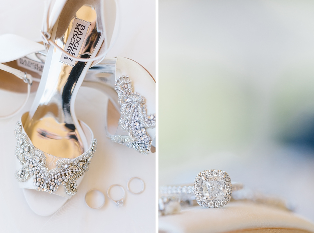 white bridal shoes with rhinestones