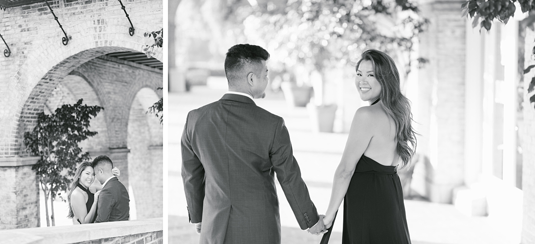 malaga cove plaza palos verdes engagement session