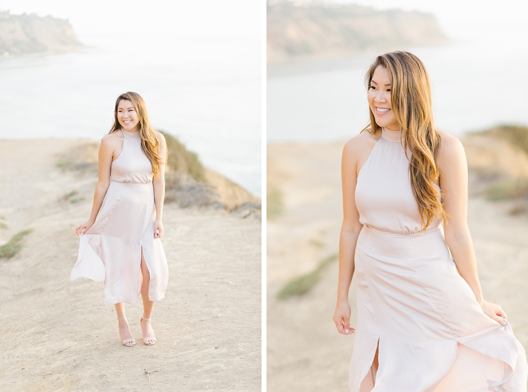 palos verdes engagement session bluff cove