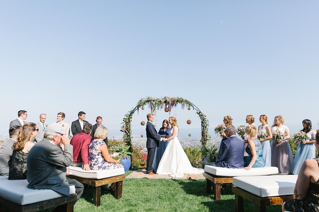 boho backyard wedding at palos verdes private residence