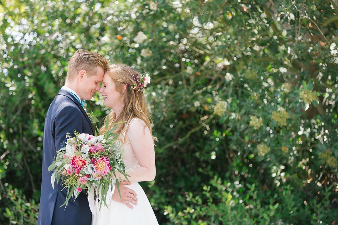 boho palos verdes wedding bride and groom
