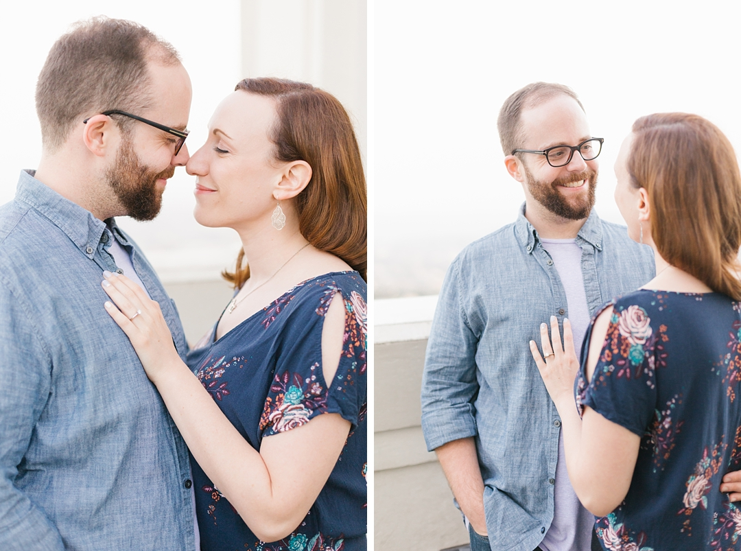 griffith park engagement session rachel and anthony at griffith observatory