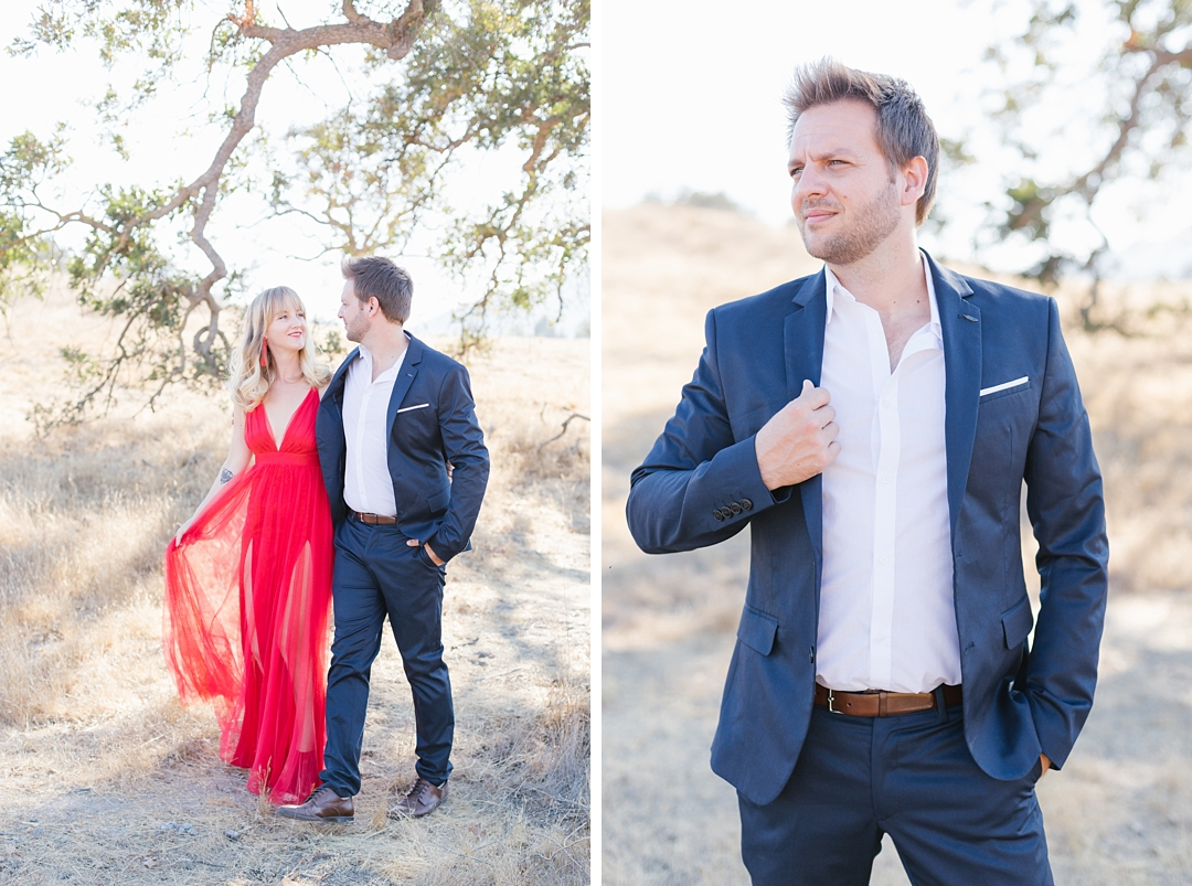 fashion forward southern california anniversary session at Cheeseboro Canyon in Agoura Hills