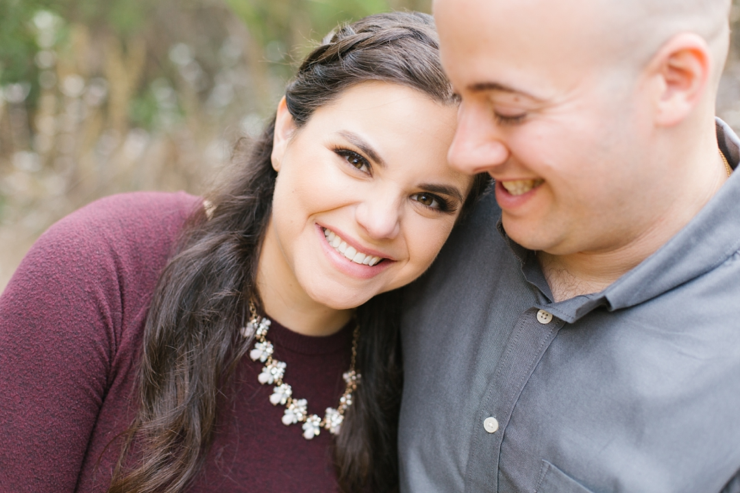fall solstice canyon engagement session