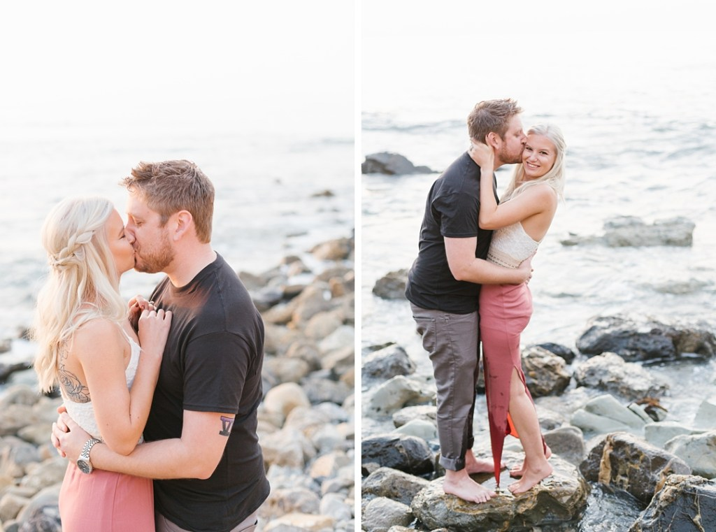 carly and nick's south bay engagement session by Palos Verdes photographer Rachel Stelter