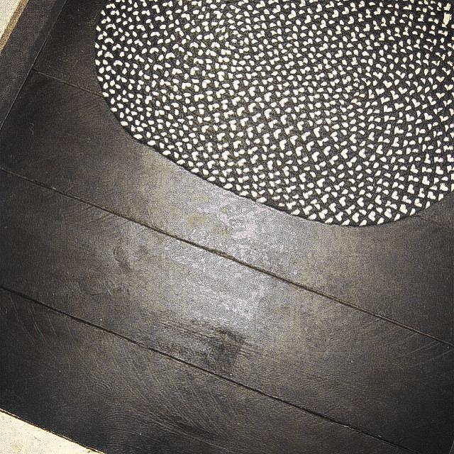 painture parquet noir