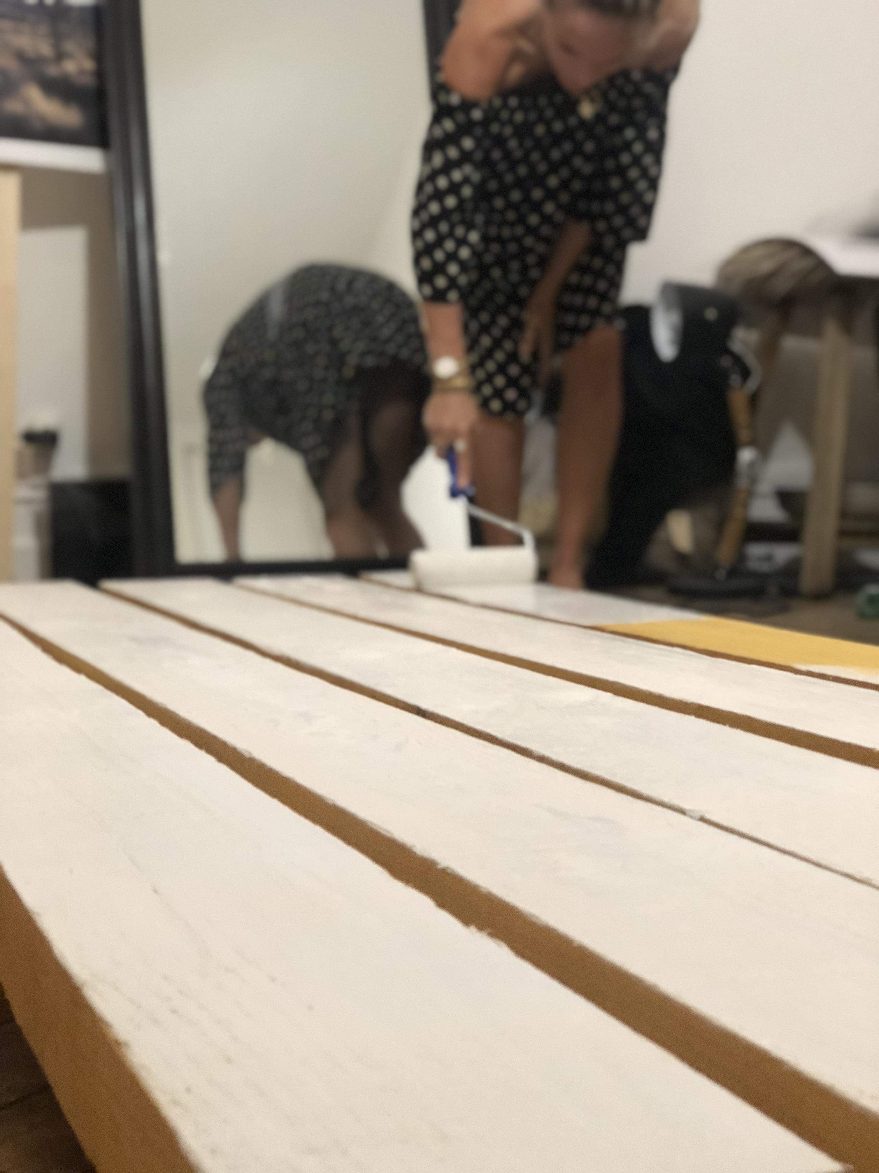 peindre bastaings bois table