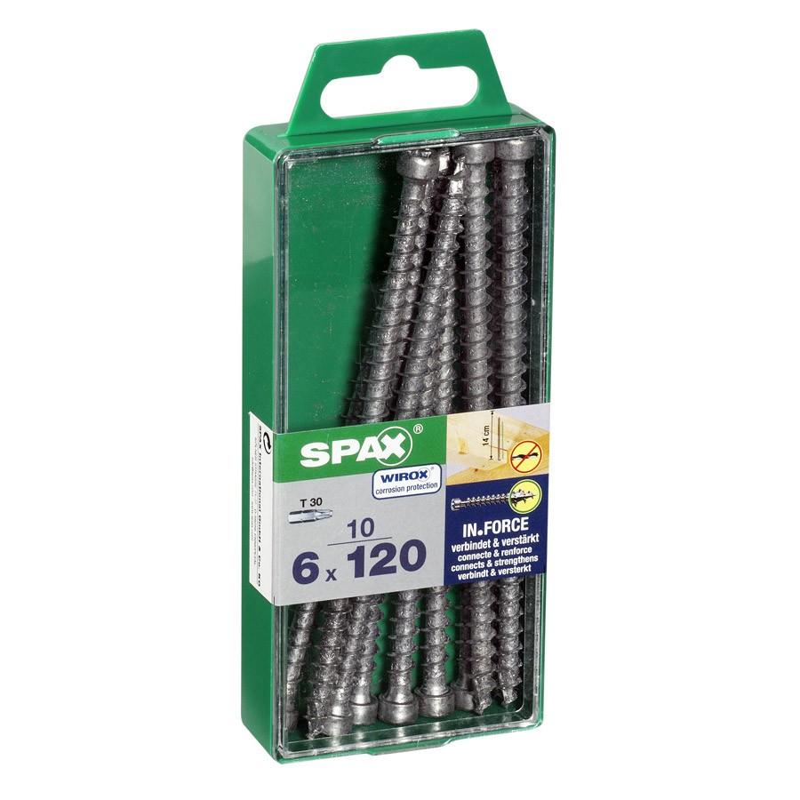 lot-de-10-vis-acier-tete-cylindrique-torx-spax-diam-6-mm-x-l-120-mm