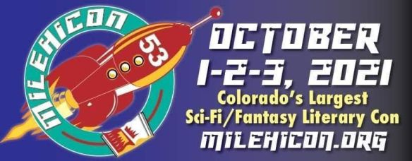 milehicon53 banner, rocketship in left corner, october 1-2-3 2021 and additional information in right corner