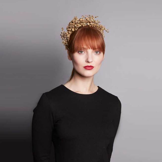 Gold Lily of the Valley Headdress