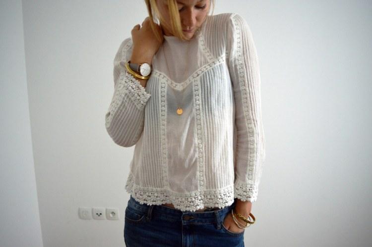 blouse dentelle blanche zara rachel vdw blog mode lille
