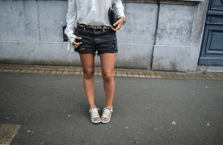 look blouse blanche short noir jean rachel vdw blog mode lille blog mode nord