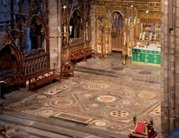 Cosmati floor from Muniment Room