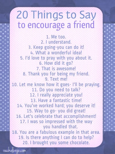 20 things to say