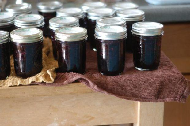 Blueberry jam, three ways. Ginger, lemon balm, or basil. | Clean.