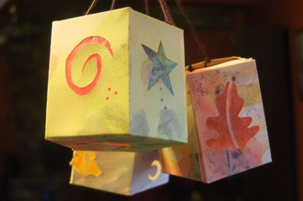 Homemade paper lantern {Clean.}