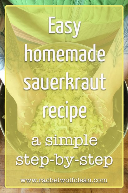 Easy, homemade, probiotic sauerkraut recipe #probiotic #lactofermented #sauerkraut