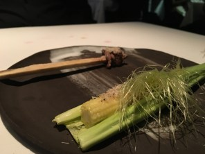 Baby Corn (served in husk), Beef (served on the bone)