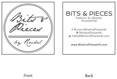Business Card Design - www.BitsAndPiecesHK.com