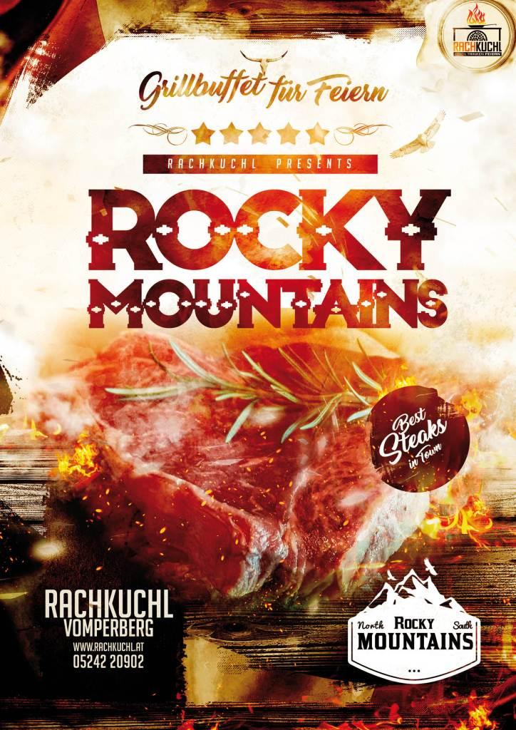 Feiern Sie bei uns in der RachKuchl mit einem Rocky Mountains Buffet mit Lachs