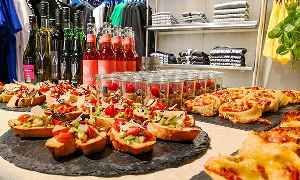 Catering zur Shoperöffnung in den Stadtgalerien in Schwaz