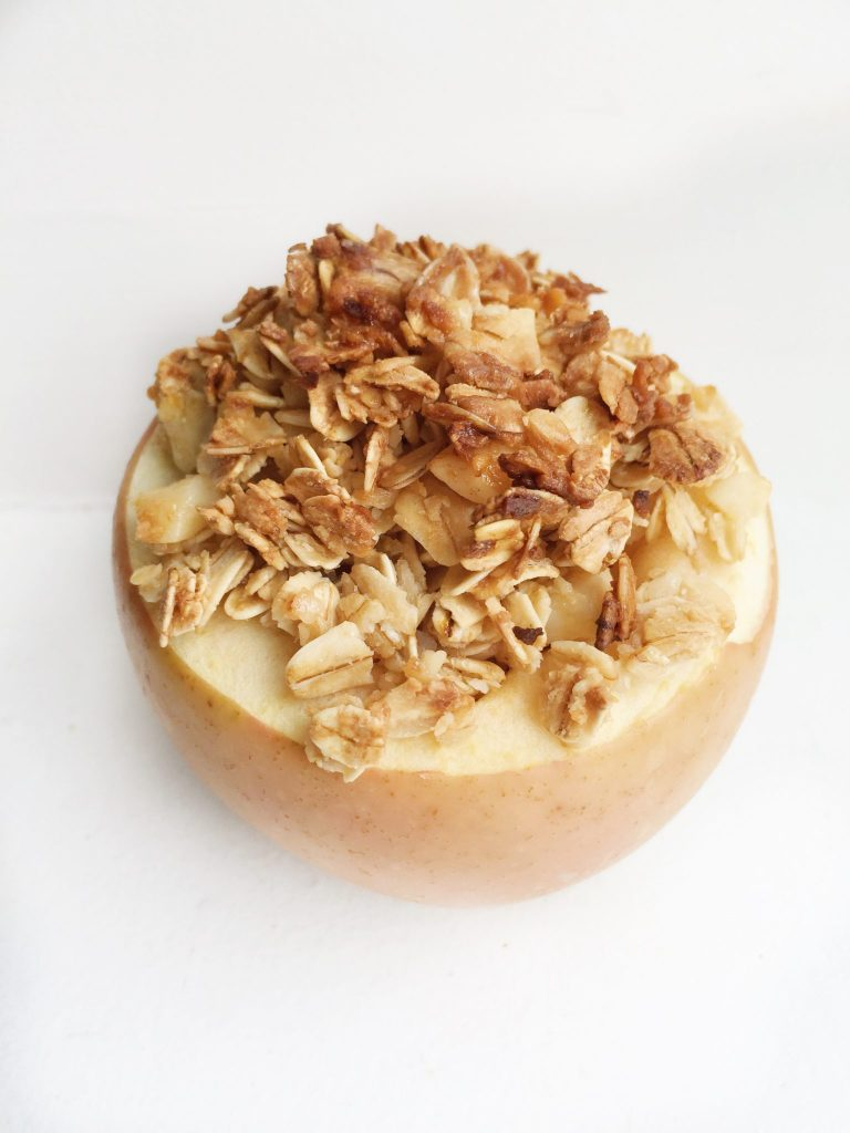 Oatmeal Stuffed Baked Apple