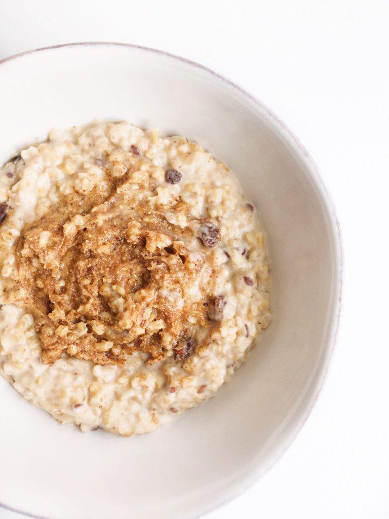 Warm Almond Breakfast Porridge
