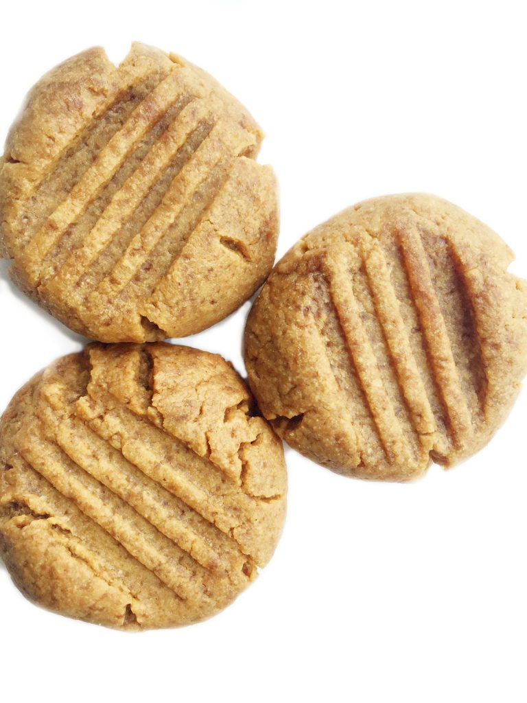 Grain & Dairy-free 3-ingredient Peanut Butter Cookies