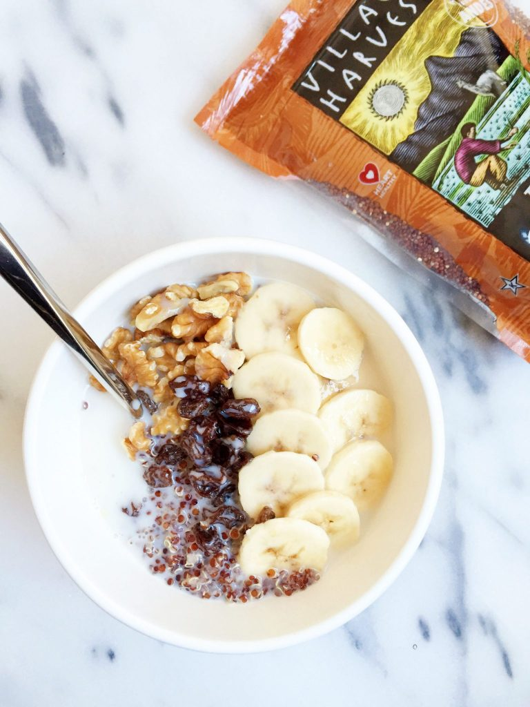 Banana Bread Quinoa Breakfast Bowl