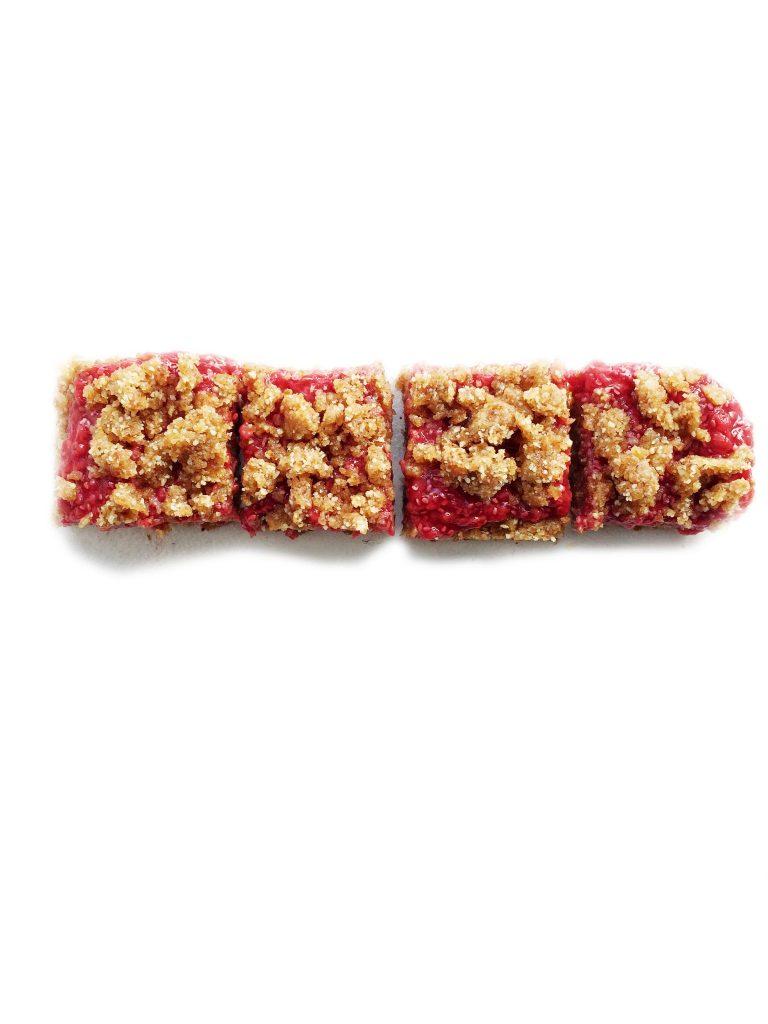 No-Bake Raspberry Chia Jam Bars (Vegan, GF & Paleo)