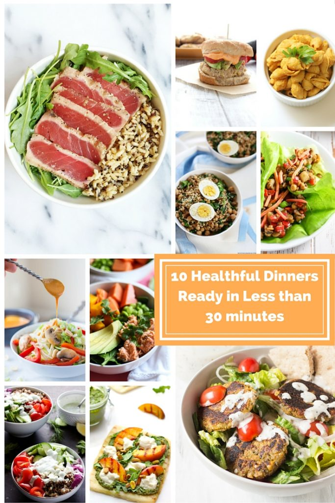 10 Healthful Dinners Ready in Less than 30 Minutes