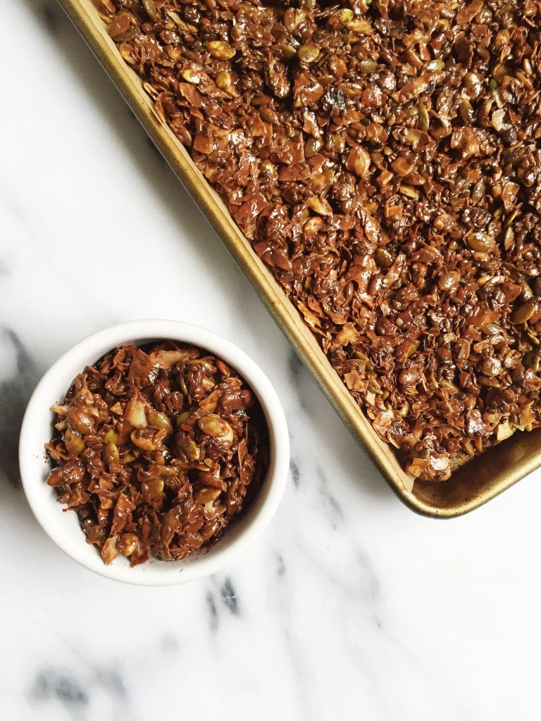 6-ingredient Chocolate Granola (nut & grain-free) by rachLmansfield