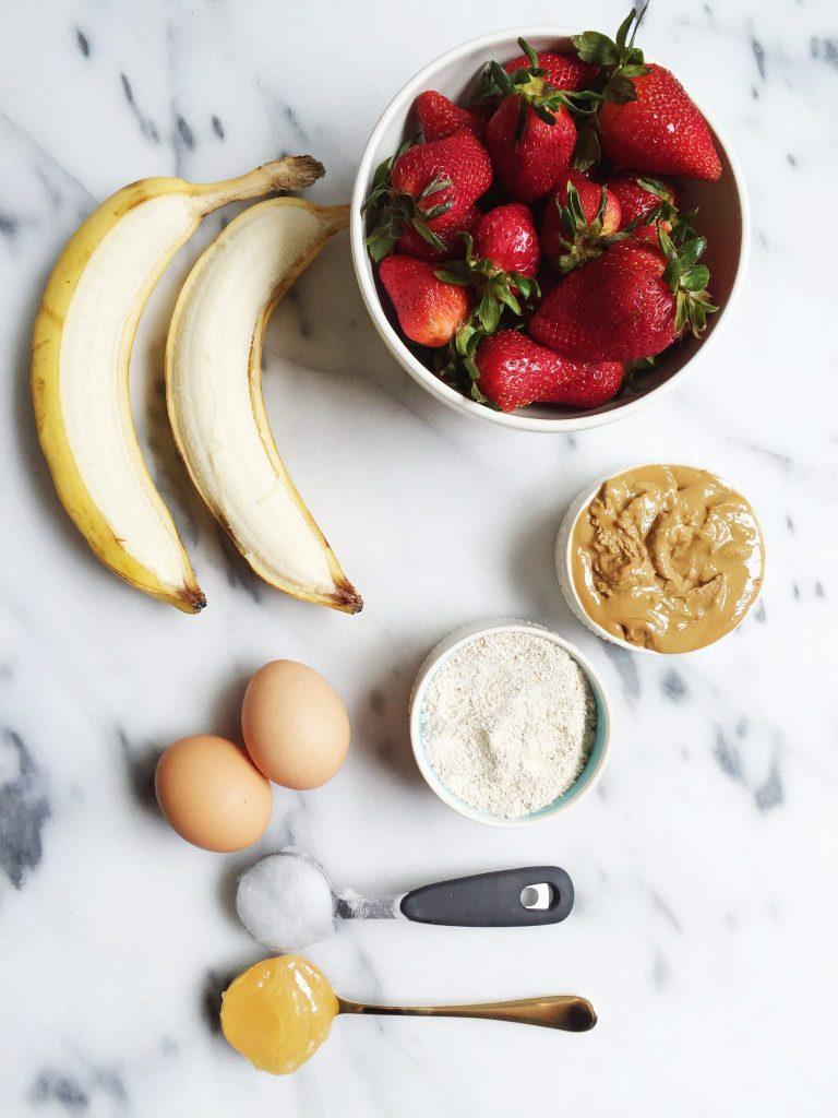 Flourless Strawberry Oatmeal Banana Bread by rachLmansfield