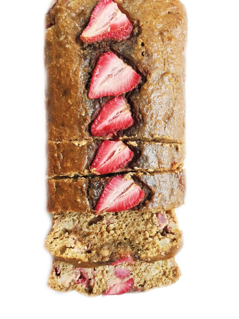 Flourless Strawberry Oatmeal Banana Bread by rachLmansfield