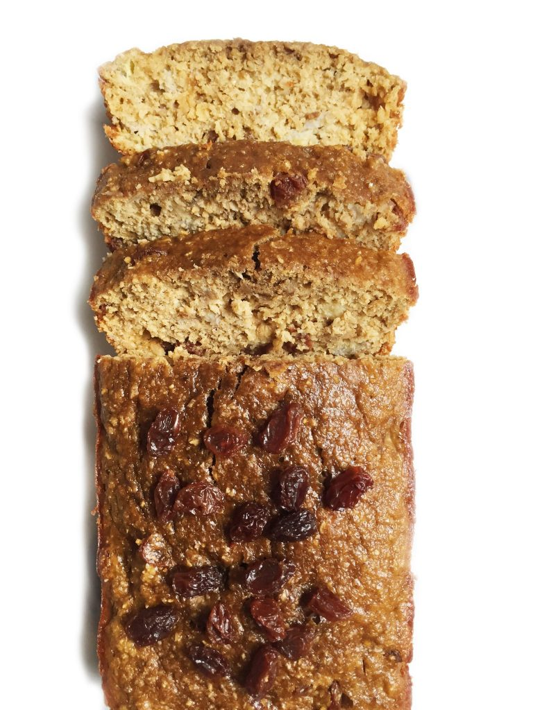 Flourless Oatmeal Raisin Banana Bread by rachLmansfield