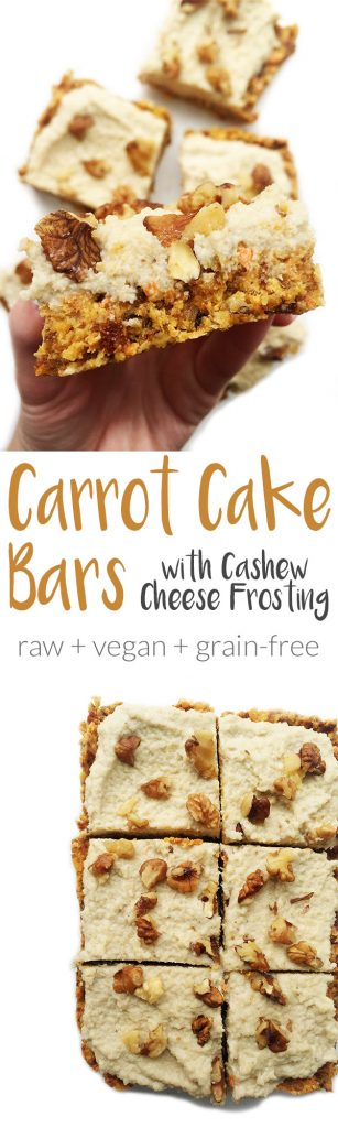 Raw Carrot Cake Bars & Cashew Cream Frosting by rachLmansfield