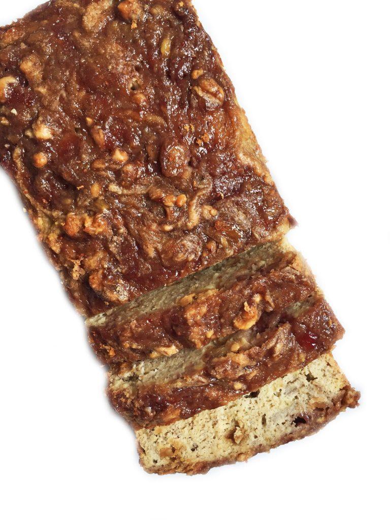 Gluten & Dairy-free Flourless Peanut Butter & Jelly Banana Bread