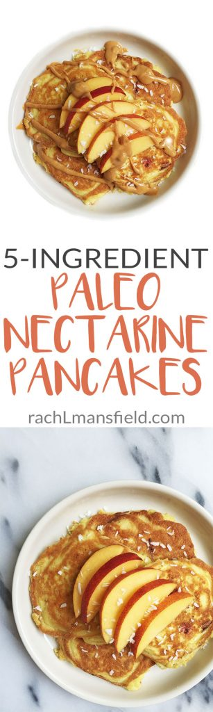 5-ingredient Paleo Nectarine Pancakes